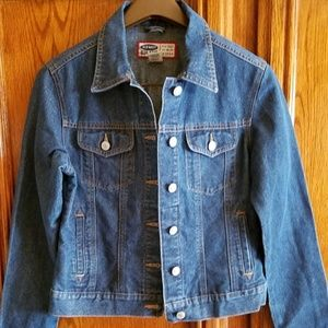 Old Navy Women's Blue Button Down Denim Jacket